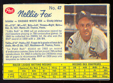 1962 POST BASEBALL CANADIAN #47 NELLIE FOX EX cond CHICAGO WHITE SOX CARD
