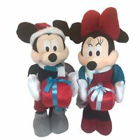 """Disney Mickey & Minnie Mouse Christmas Presents 22"""" Standing Porch Greeter/Plush"""