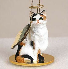 SHORTHAIR CALICO ANGEL CAT CHRISTMAS ORNAMENT HOLIDAY  Figurine