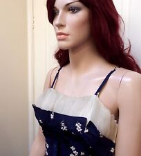 Perfect 1950s Navy Blue Cotton New Look Dress With Matching Bolero XS