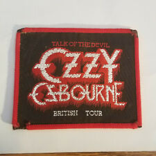 Ozzy Osbourne Talk Of The Devil British Tour  Embroidered Patch 1982 RARE  B86