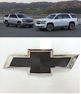 2015-2020 Chevrolet Tahoe Suburban Black Bowtie Emblems 84722856 Front Only