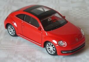 Model Car VW Volkswagen Beetle Bug Red WELLY 1:43 , New Boxed Toy Car