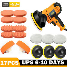 "5"" Car Polisher Buffer Buffing Pad Polish Kit Polishing Machine & 6"" Thick Pads"