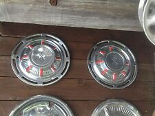 Vintage  Pair of  Racing  Chrome Hub Cap Rat Rod Man Garage Wall art