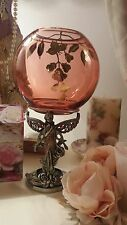 Sparkling Crystal Floral Fairy with Large Dish Figure