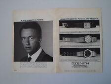 advertising Pubblicità 1984 OROLOGI ZENITH QUARTZ/PORT ROYAL/MUSEUM