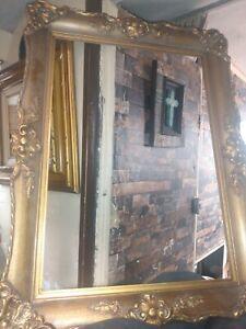 Vintage Antique Deep Tiered Ornate Baroque picture Frame 19×25