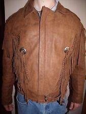 Men's Diamond Leather fringed biker or western jacket size M-L (40)