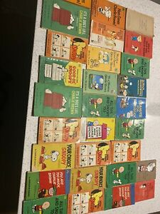 Vintage Lot Of 29 Faucet Crest CHARLES SCHULZ Peanuts CHARLIE BROWN Snoopy Books