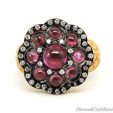 Estate 2.80ct Diamond & Tourmaline  22Kt Gold Ring  17.9 grams