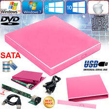 USB 2.0 To Sata Laptop CD DVD RW Rom External Drive Caddy Case Drive Enclosure
