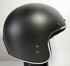Open Box Bell Custom 500 Carbon Open Face Motorcycle Helmet Matte Black Large