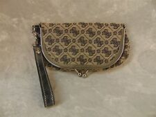 "GUESS BRAND SMALL CLUTCH PURSE with Strap ""G"" LOGO Pattern Handbag"