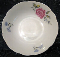 2x China Saucers made in Czechoslovakia with floral pattern approx 5 1/4 ins