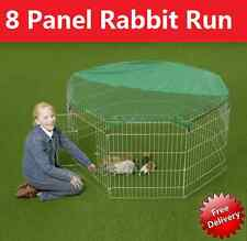 Large 8 Panel, Dog Puppy Rabbit Cage Run PlayPen, Guinea Duck Chicken Enclosure