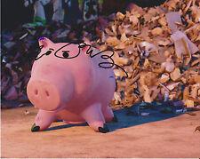 John Ratzenberger Toy Story Movie Voice Ham Piggy Bank Signed 8x10 Photo c