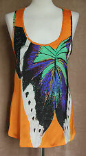 Sleeveless Orange Top with Butterfly - Size 10* - Aliorris