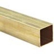 "Brass C260 Square Tubing, ASTM 135, 9/16"" x 9/16"", 0.028"" Wall, 36"" Length"