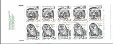 Sweden 1989 Endangered Species Booklet SC 1723-1724a, Owl & Wolverine - MNH*
