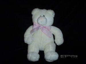 Gund Posey Pink White Plush Baby Bear 1992 Rare 12 Inch