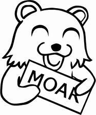 PEEPING BEAR WANTS MOAR! VINYL STICKER/DECAL CAR, SKATE, JDM, VW, T4, SKATE