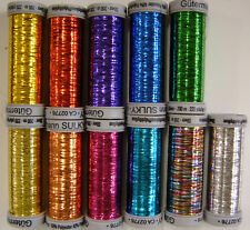 Gutermann Sulky Sliver Metallic Thread 200m spool