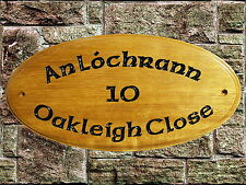 Personlised Wooden Hard wood House Name Plaque/Signs- Solid Iroko