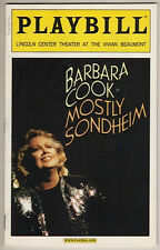 "Barbara Cook Playbill ""Mostly Sondheim"" 2002"