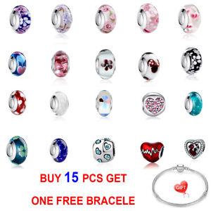 4PCS European Fashion DIY Charms Beads Pendant Fit Bracelets Necklace For Women