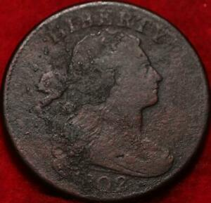 1802 Philadelphia Mint Copper Draped Bust Large Cent