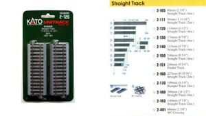 2-120 Rails Droits 114mm KATO Train HO 1/87