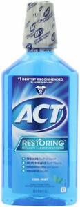 ACT Restoring Mouthwash, Cool Splash Mint, 33.8 Ounce