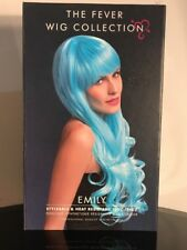 The Fever Collection Emily 2-Tone Blue Wig Styleable & Heat Resistant Long Hair