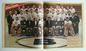 1984-85 BOSTON BRUINS TEAM POSTER - O'REILLY, CHEEVERS, MILBURY, BOURQUE, KLUZAK