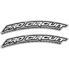 Pro Circuit WHITE .com Front Fender Stickers DC0010