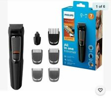 Philips Series 3000 7 in 1 Face Hair Body Groomer Trimmer Clipper MG3720/33, New