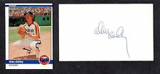 Alan Ashby ( Debut 1973 ) CLEV HOU TOR  SIGNED AUTOGRAPH AUTO 3x5 INDEX COA