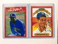 1990 Donruss Ken Griffey Jr Baseball Card Lot #365 and Diamond Kings #4 *MINT*