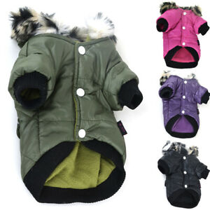 Dog Puffer Coat Small Dogs Waterproof Winter Pet Clothes Jacket Hoodie Apparel