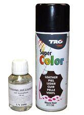 500/ 400 ml Lederfarbe Lederfarbspray Kunstlederfarbe Profi SET Farbe & Reiniger