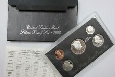 1996 S US Mint SILVER Proof Set 5-Coin Set in OGP Box w/ COA - Free Shipping