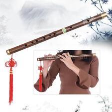 Professional Black Bamboo Dizi Flute Traditional Handmade Chinese Musical F3F1