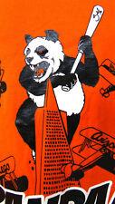 Panda Bear 48 Orange Tee Shirt 3XL Empire State Building Baseball Bat Airplanes