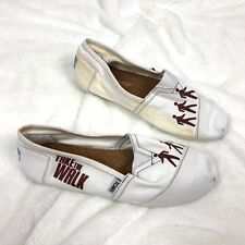 Hanson TOMS Shoes Size 9 Take The Walk NEW Flawed Damaged White Slip On