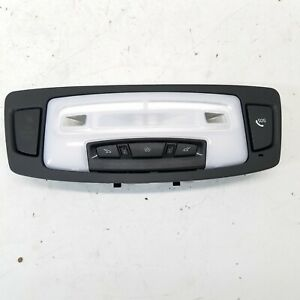 2015 BMW M235i BLACK FRONT OVERHEAD CONSOLE DOME LIGHT READING LAMP SWITCH OEM