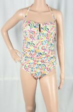 New LAUREN Ralph Lauren Paisley Printed Tummy-Control One-Piece Swimsuit Size 12