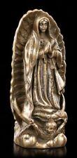 Kleine Maria Guadalupe Figur - bronziert - Heiligenfigur Madonna Deko