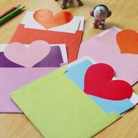 Popular Greeting Card Heart Shape Blessing Wish Cards Wedding Valentine Favor PF