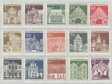 Germany (Federal) 1964-9 Architecture Coloured Background UM SG1367-81 Cat £18.0